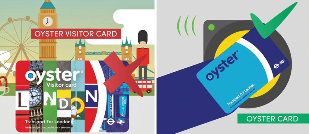 Oyster card vs Oyster visitor Card